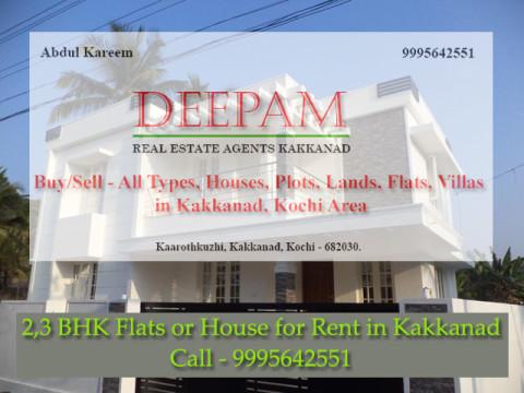 2BHK Flat for rent in Kakkanad, Kochi
