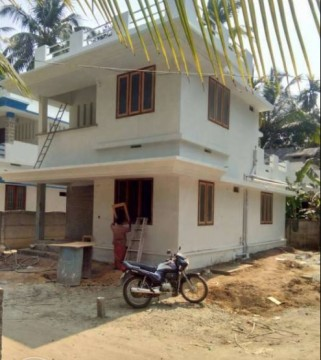 3 Cent Land with 1450 sqft villa at 2km from Guruvayur Temple